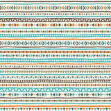 Boho geometrical seamless vector pattern Royalty Free Stock Photo