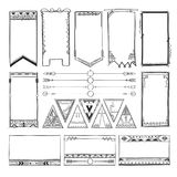 Boho hand drawing doodle collection vector illustration Stock Images