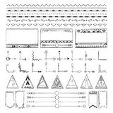 Boho hand drawing doodle collection vector illustration Stock Image