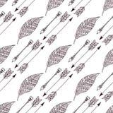 Boho hand drawn doodle seamless pattern eps10 Royalty Free Stock Photo