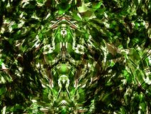 Boho kaleidoscope abstract seamless pattern. Royalty Free Stock Photo