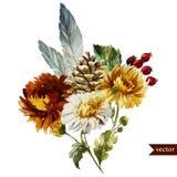 Boho kwiaty royalty ilustracja