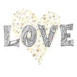Boho love letter Stock Image