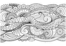 Boho modell för bakgrund, garneringar, baner, färgläggningbok, kort och så vidare stock illustrationer