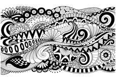 Boho modell för bakgrund, garneringar, baner, färgläggningbok, kort och så vidare royaltyfri illustrationer