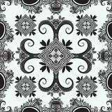 Boho ornament, texture. Monochrome. Abstract floral plant natural Seamless pattern. Vintage decorative elements. Ethnic ornamental Royalty Free Stock Photography