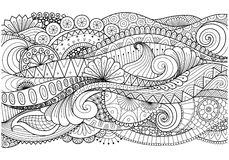 Boho pattern for background, decorations,banner,coloring book,cards and so on royalty free stock photo