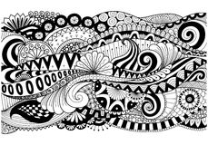 Boho pattern for background, decorations,banner,coloring book,cards and so on Stock Photography