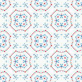 Boho Pattern Blue Background. Abstact flower pattern. Seamless boho design element. Vector blue background. Intricate ornament. Unusual texture. Fashionable Vector Illustration