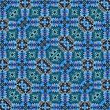 Boho-Schablone im Neonblau Muster-Wolldeckenhintergrund der Verzierung türkischer lizenzfreie abbildung