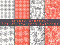 Boho seamless pattern. Ethnic and tribal pattern. Set. For wallpaper, bed linen, tiles, fabrics, backgrounds. Royalty Free Stock Images