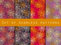 Boho seamless pattern. Ethnic and tribal pattern. Set. For wallpaper, bed linen, tiles, fabrics, backgrounds. Stock Images