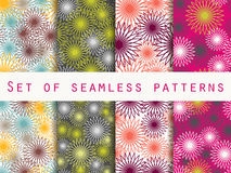 Boho seamless pattern. Ethnic and tribal pattern. Set. For wallpaper, bed linen, tiles, fabrics, backgrounds. Royalty Free Stock Photography