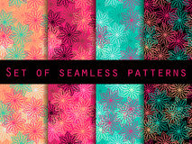 Boho seamless pattern. Ethnic and tribal pattern. Set. For wallpaper, bed linen, tiles, fabrics, backgrounds. Stock Photos