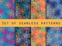 Boho seamless pattern. Ethnic and tribal pattern. Set. For wallpaper, bed linen, tiles, fabrics, backgrounds. Royalty Free Stock Photos