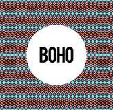 Boho seamless pattern illustrated background Stock Photo