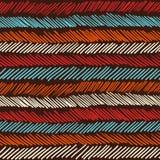 Boho seamless pattern striped vintage background Stock Photography