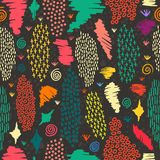 Boho seamless pattern vintage colorful background Royalty Free Stock Images