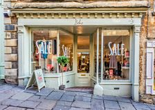 Boho shop front in Frome, Somerset Royalty Free Stock Photography