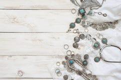 Boho styl odzieżowy i biżuteria Obraz Royalty Free