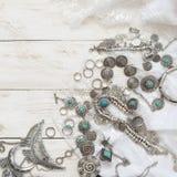 Boho styl odzieżowy i biżuteria Fotografia Stock