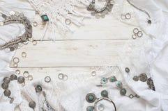 Boho styl odzieżowy i biżuteria Zdjęcie Royalty Free