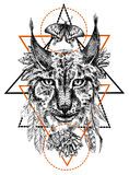 Boho style animal Royalty Free Stock Image