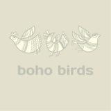 Boho style birds Royalty Free Stock Image