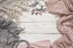 Boho style clothes and accessory Royalty Free Stock Image