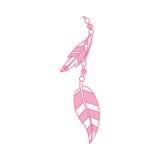 Boho style decorative feather Royalty Free Stock Image