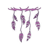 Boho style decorative feathers Stock Photos