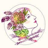 Boho style girl Stock Image