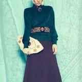 Boho style glamorous lady. Spring fashion accessories Stock Photography