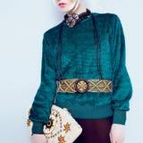 Boho style glamorous lady. Royalty Free Stock Image