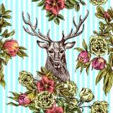 Boho Style hand drawn seamless patternr Royalty Free Stock Photo