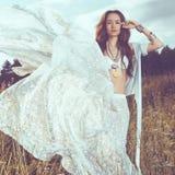 Boho style lady Stock Image