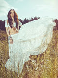 Boho style lady Stock Photography