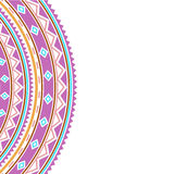 Boho stylowa dekoracyjna granica royalty ilustracja