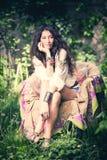 Boho summer girl Stock Image