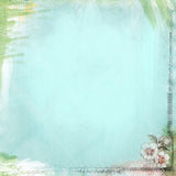 Boho-Teatime-Schmutz-Papier-Hintergrund Aqua Blue Lizenzfreie Stockfotos