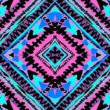 Boho textiel naadloos patroon Stock Afbeeldingen