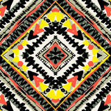 Boho textile seamless pattern. Royalty Free Stock Images