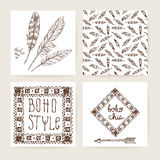 Boho vector illustration. Royalty Free Stock Photo