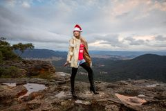 Boho-Weihnachten in den Bergen stockbilder
