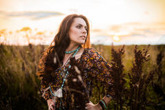 Free Boho Woman In Field Royalty Free Stock Photography - 62595317