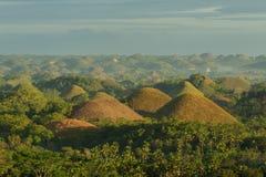bohol巧克力小山菲律宾视图 菲律宾 图库摄影