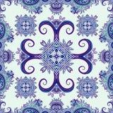 Bohoornament, textuur Abstract bloemeninstallatie natuurlijk Naadloos patroon Uitstekende decoratieve elementen Etnische sier blo royalty-vrije illustratie