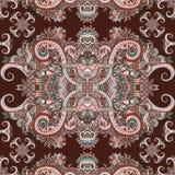 Bohoornament, textuur Abstract bloemeninstallatie natuurlijk Naadloos patroon Uitstekende decoratieve elementen Etnische sier blo Stock Foto