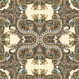 Bohostijl, etnisch ornament, naadloos patroon Abstract bloemeninstallatie natuurlijk patroon royalty-vrije illustratie
