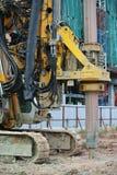 Bohren Sie Stapelanlagenmaschine in der Baustelle lizenzfreie stockfotos